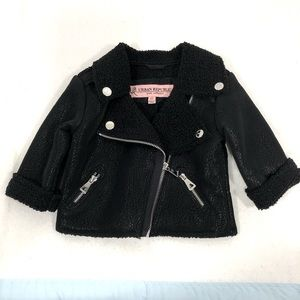Toddler girls Faux leather jacket